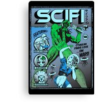 Cthulhu on the cover of SCIFI Canvas Print