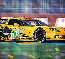 Chevrolet Corvette C6R GTE Pro Le Mans 24 2012 by Yuriy Shevchuk