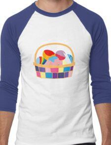 Easter Ponies Men's Baseball ¾ T-Shirt