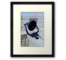 Blue Bull Bell & Ball Framed Print