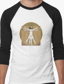 Vitruvian Dude Men's Baseball ¾ T-Shirt
