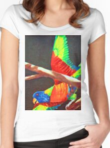 LORRIE Women's Fitted Scoop T-Shirt