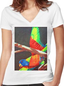 LORRIE Women's Fitted V-Neck T-Shirt