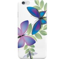Butterflies & Dragonfly iPhone Case/Skin