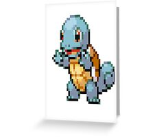 Pixel Squirtle Greeting Card