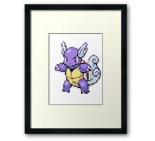 Pixel Wartortle  Framed Print