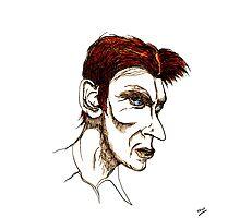 David Bowie Caricature Photographic Print