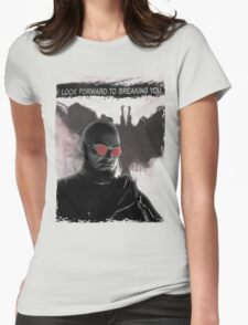 Batman Arkham City: Hugo Strange (Red Glasses) Womens Fitted T-Shirt