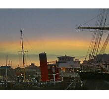 Boats and the Bridge Photographic Print