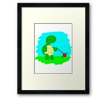 Yoyo Turtle at the Park Framed Print