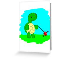 Yoyo Turtle at the Park Greeting Card