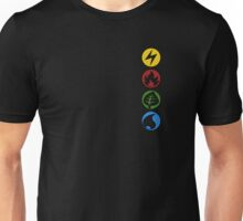 Lightning, Fire, Grass and Water. Unisex T-Shirt
