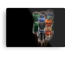 colored drinks Metal Print