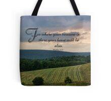 where your treasure is-Matthew 6:21 Tote Bag