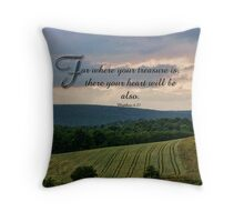 where your treasure is-Matthew 6:21 Throw Pillow