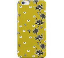 Sea Holly Garden - 70s Green  iPhone Case/Skin