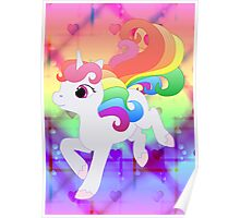 Cute Baby Rainbow Unicorn Poster
