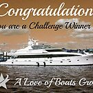 Challenge Winner Banner for A Love of Boats by Jane Neill-Hancock