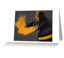 Grim Black Dog Greeting Card