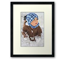 Discovering Snow Framed Print