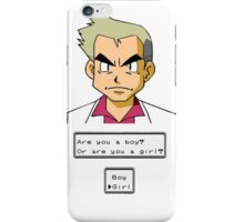 Pokemon - Professor Oak iPhone Case/Skin