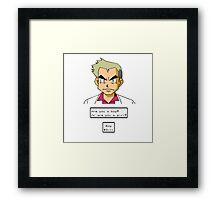 Pokemon - Professor Oak Framed Print