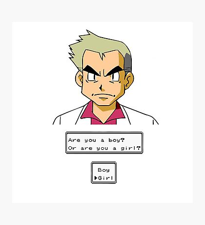 Pokemon - Professor Oak Photographic Print