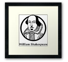 William Shakespeare Framed Print