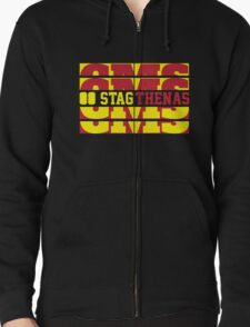 Stagthenas Zip Up T-Shirt