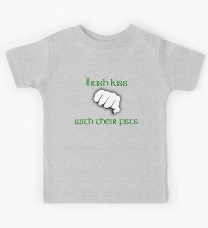 Irish Kiss (for black or white shirts) Kids Tee