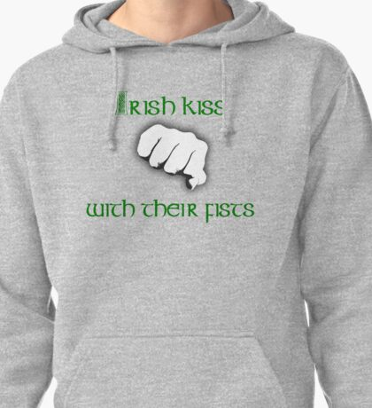 Irish Kiss (for black or white shirts) Pullover Hoodie