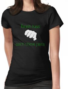 Irish Kiss (for black or white shirts) Womens Fitted T-Shirt