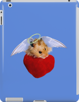 Angel Hamster with Heart by jkartlife