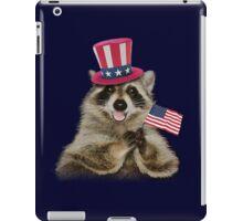 Patriotic Raccoon iPad Case/Skin