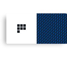 Number BLUE+black 7 Canvas Print