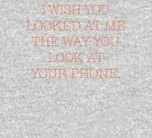 American Typewriter I WishYou Looked At Me Women's Fitted Scoop T-Shirt