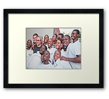 Kliptown Community Workers Framed Print