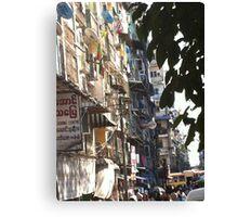 Yangon Streetscape Canvas Print