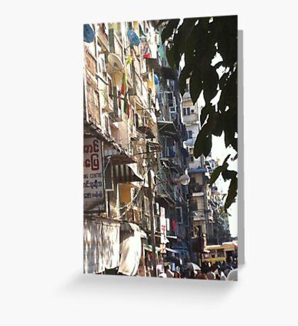 Yangon Streetscape Greeting Card