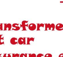 Transformers Funny T-shirt Sticker