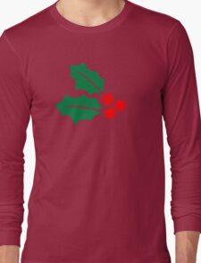 Christmas Holly Long Sleeve T-Shirt