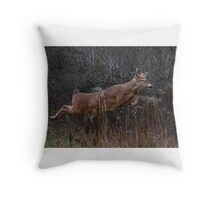 Into the Woods - White-tailed Deer Throw Pillow