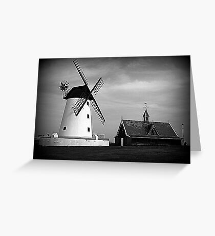 Lytham Windmill and Lifeboat station Greeting Card
