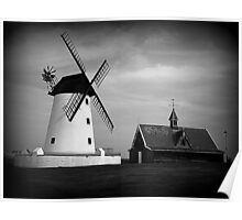 Lytham Windmill and Lifeboat station Poster