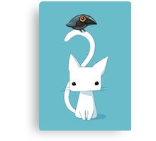 Cat and Raven Canvas Print