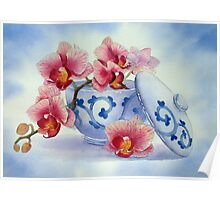Orchid in a Japanese Bowl Poster