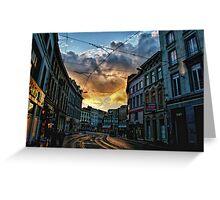 Antwerp Sunset Greeting Card