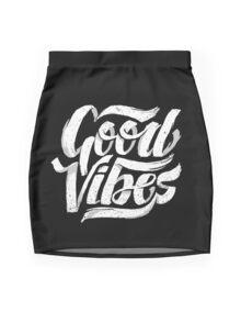 Good Vibes - Feel Good T-Shirt Design Mini Skirt