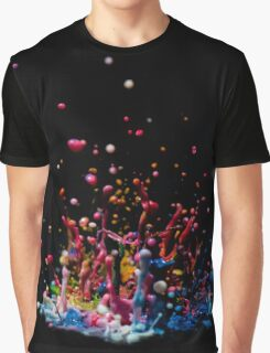 Paint Sculpture - High speed photography of splashes of paint  Graphic T-Shirt