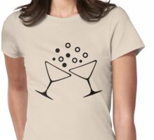 A Champagne Toast Womens Fitted T-Shirt